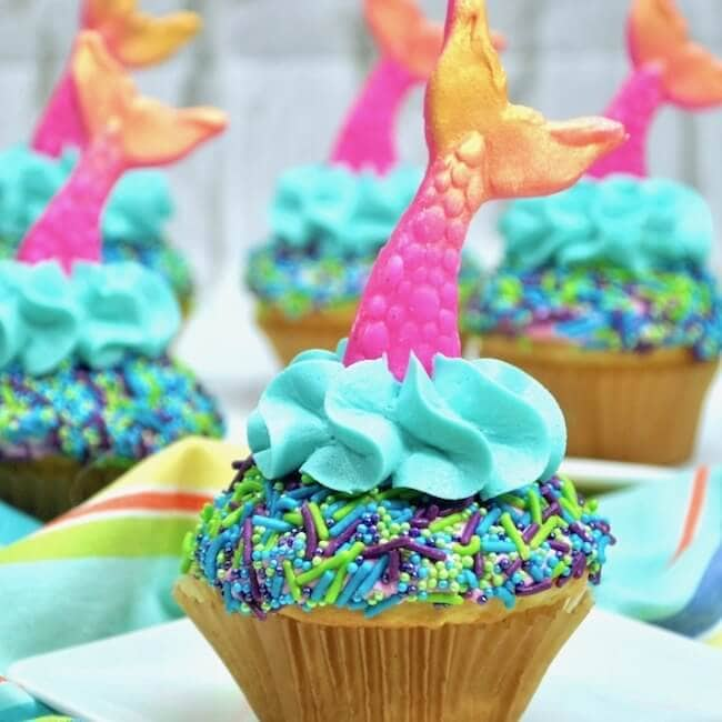 Gorgeous Mermaid Tail Cupcakes