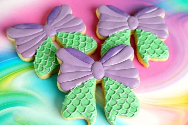 Mermaid Bow Cookies