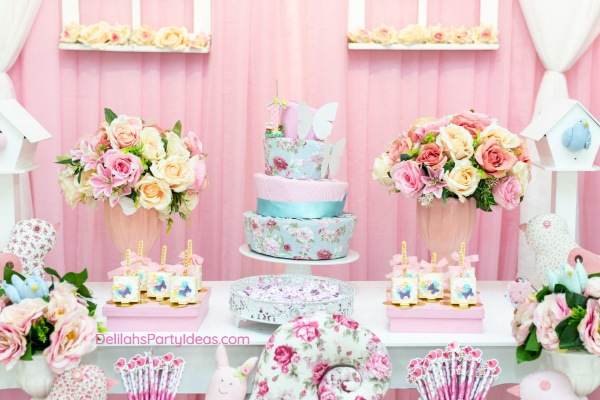 Floral Tea Parties as a Baby Shower Theme
