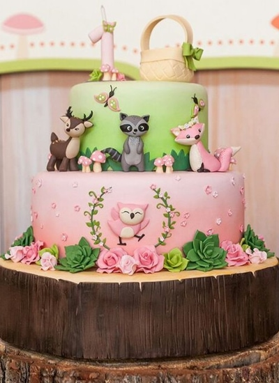 Girl Safari Themed Cake