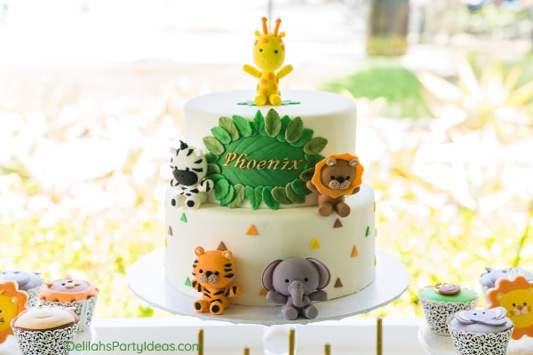 Safari themed cake