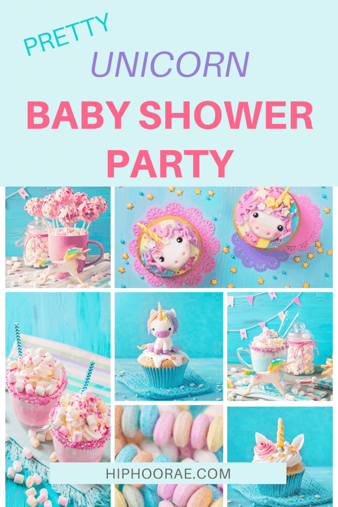 Pretty Unicorn Baby Shower party