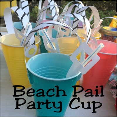 DIY Sand Pail Beach Party Cups