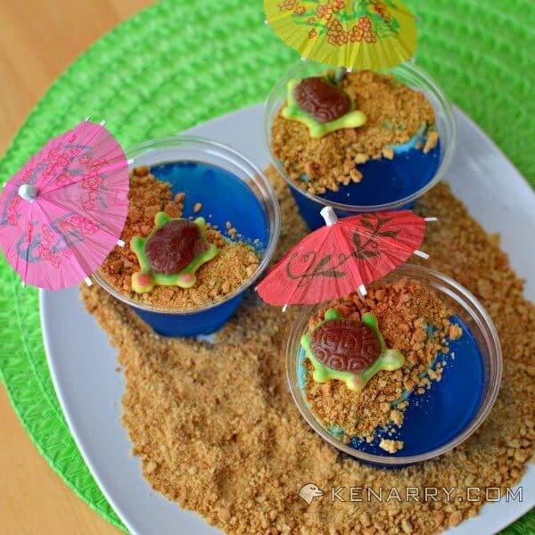 Tropical Turtle Beach Jello Cups