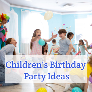 Childrens Birthday Party balloons and clown