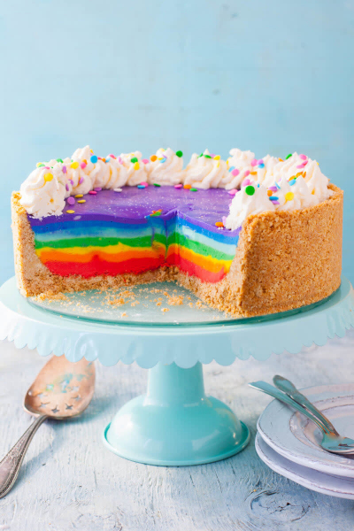 Stunning Rainbow Cheesecake