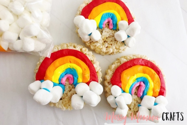 Rainbow Rice Krispies