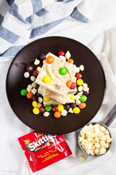 Skittles Rainbow White Chocolate Fudge