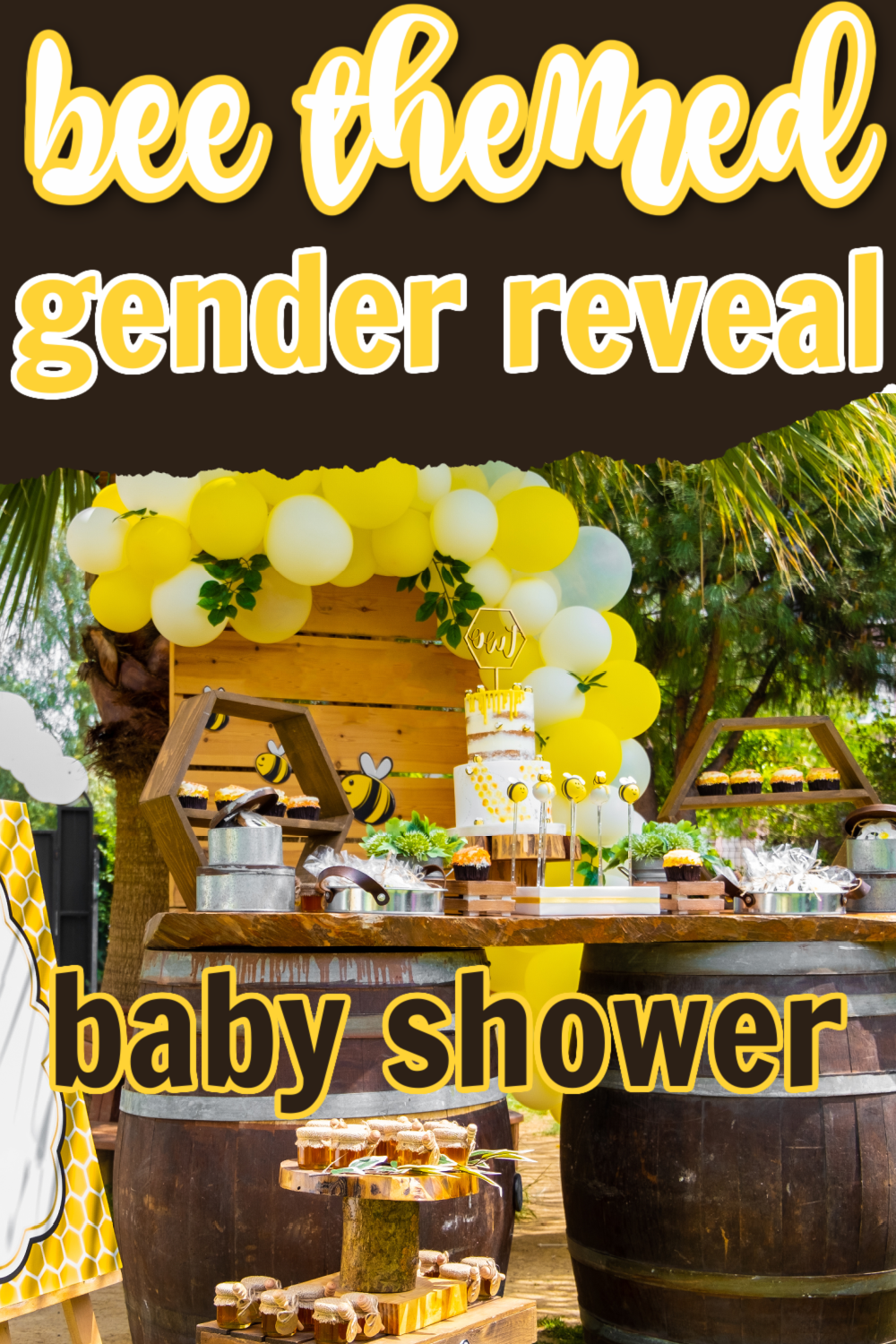 Bee Themed Gender Reveal baby Shower
