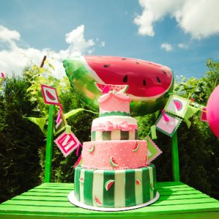 Watermelon Cake for a Garden Party