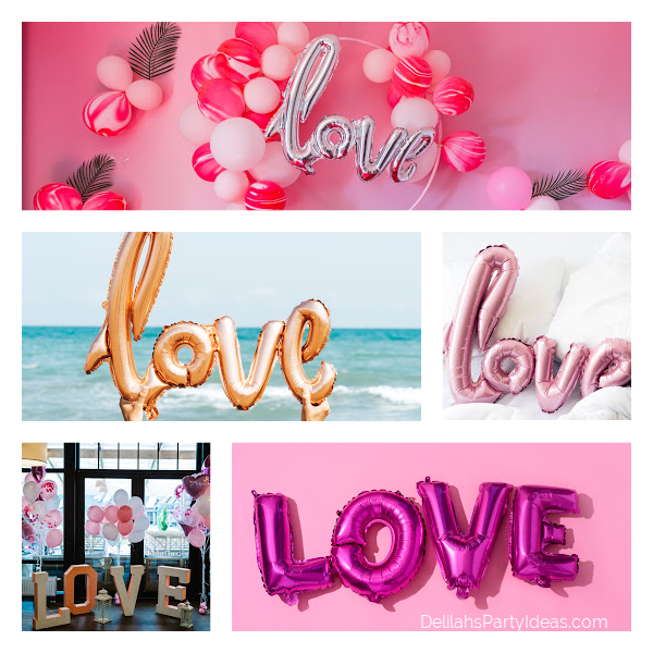 Collage of Love Balloons
