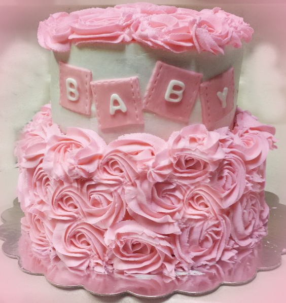 Valentines Baby Shower Pink cake perfect