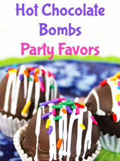 Hot Chocolate Bomb Party Favors