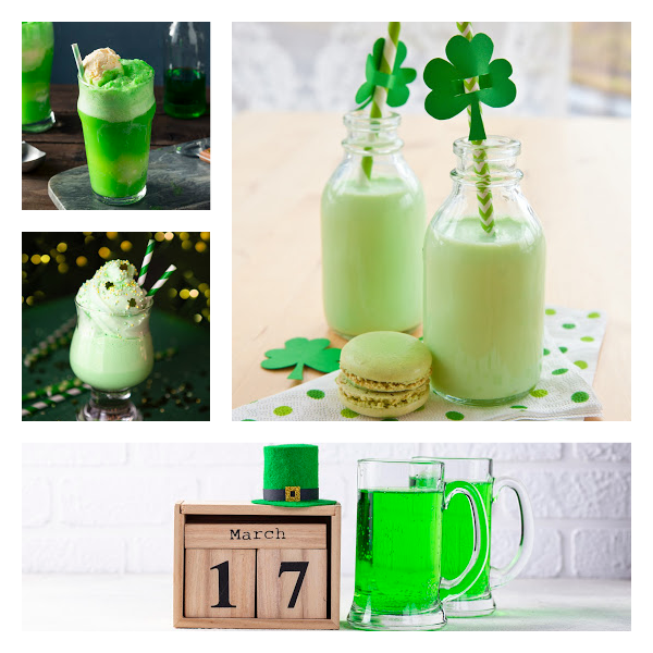 St Patrick's day Drink Collage