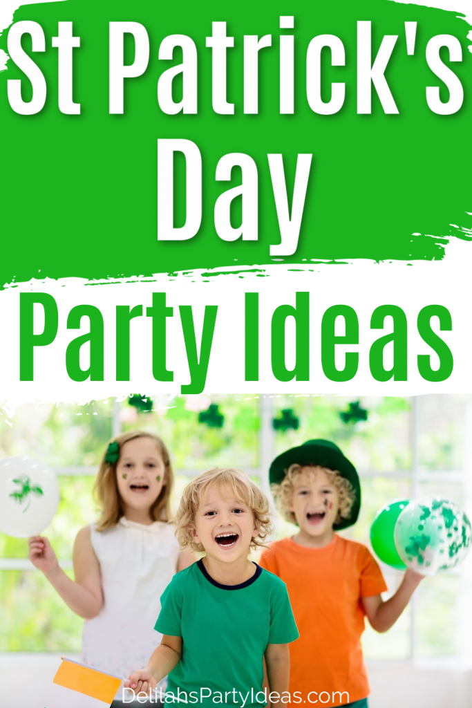 St Patrick's Day Party Ideas pin Image with text overlay