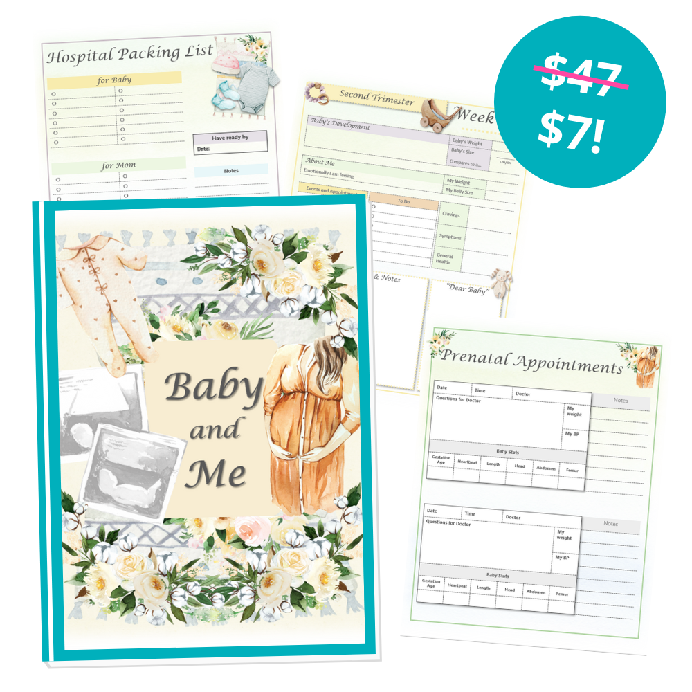 Baby and Me Planner Mockup