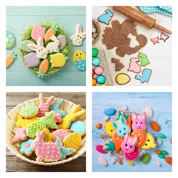 Collage of Easter Cookies
