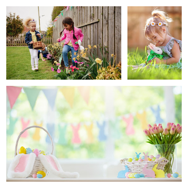 Collage of Easter party ideas