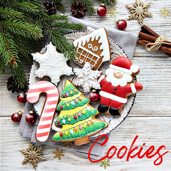 Merry and Bright Christmas cookies