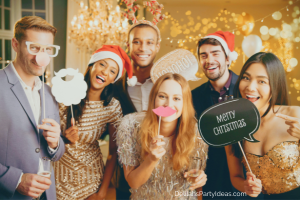 Christmas Party Photo Booth Props