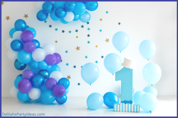 First Birthday Party with Balloon Garlands