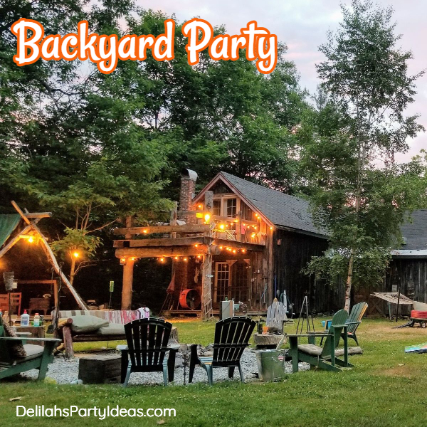 Outdoor Backyard party for teens