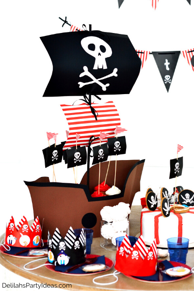 Pirate party food and decorations