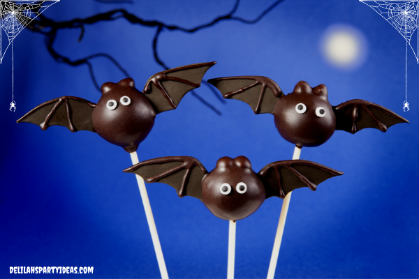 Bat Cake Pops for your Halloween Party