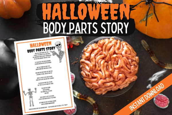 Halloween Body Parts Story - Printable Game