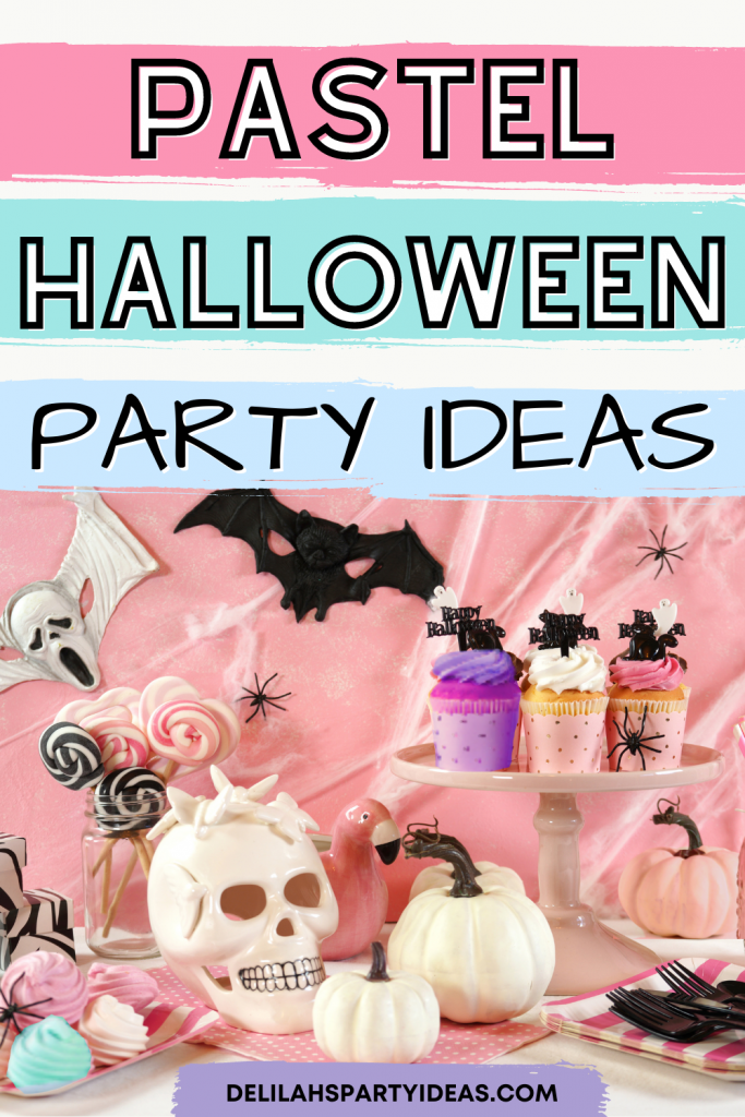 Pastel Halloween Party Ideas, a not so Spooky Pastel Halloween Party that's perfect to celebrate this fun holiday with the kids. Make it kid-friendly by using pale pastel colors for decorations, food, sweets and drinks