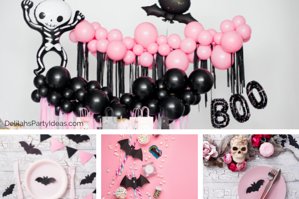 Pink and Black Halloween Party Ideas