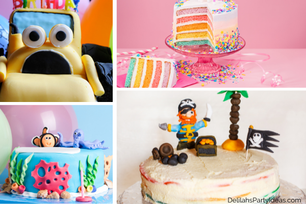 Homemade cakes with different icings and decorations