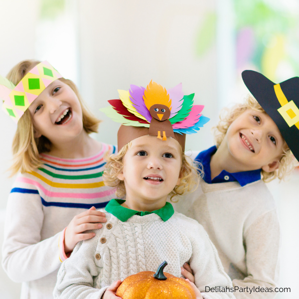 Entertain the kids at Thanksgiving with crafts